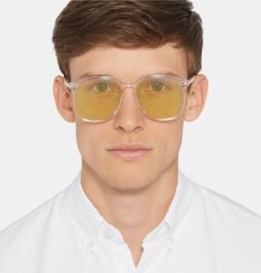 Retro Gucci Sunglasses in Clear + Rainbow at MR PORTER