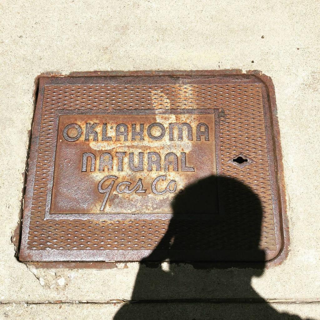Oklahoma Natural Gas manhole cover