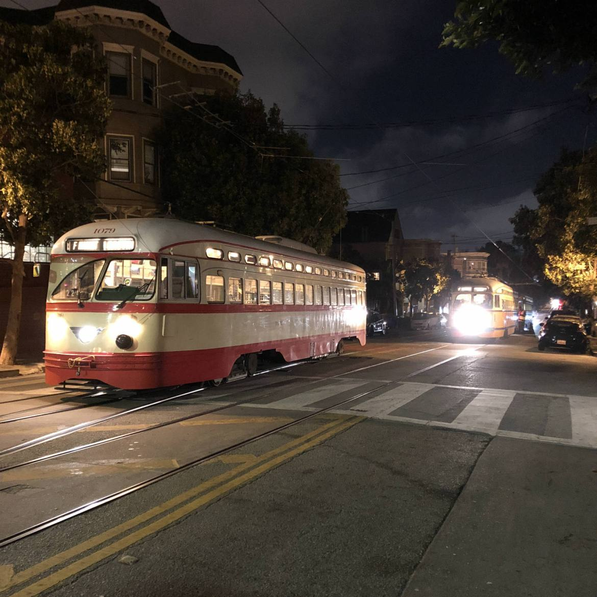 Streetcars on 17th Street in The Castro