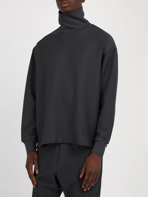 Lemaire Funnel-Neck Cotton Jersey Top FW18
