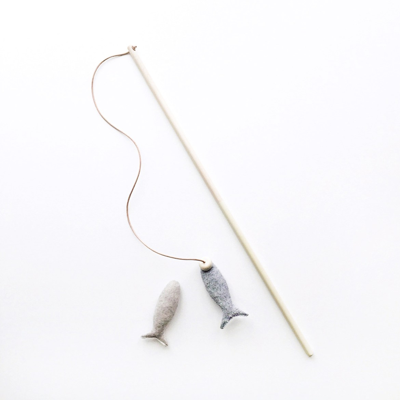Siamese Social Club Fishing Rod Cat Toy