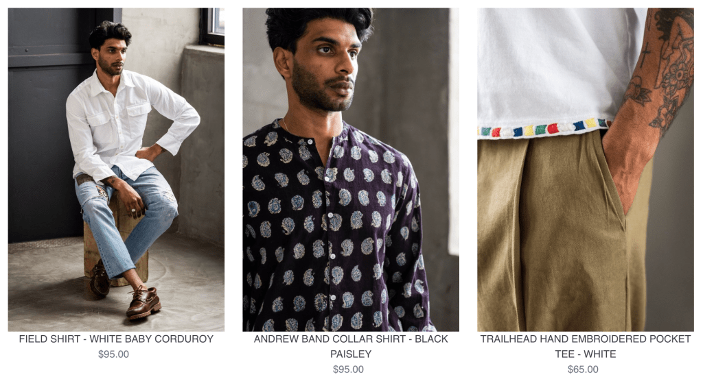 18 East globally and ethically sourced menswear