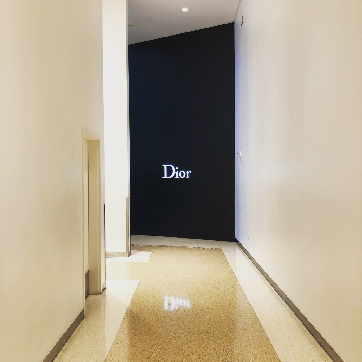 A view of Dior from the men's bathroom at Crystals / CityCenter Las Vegas