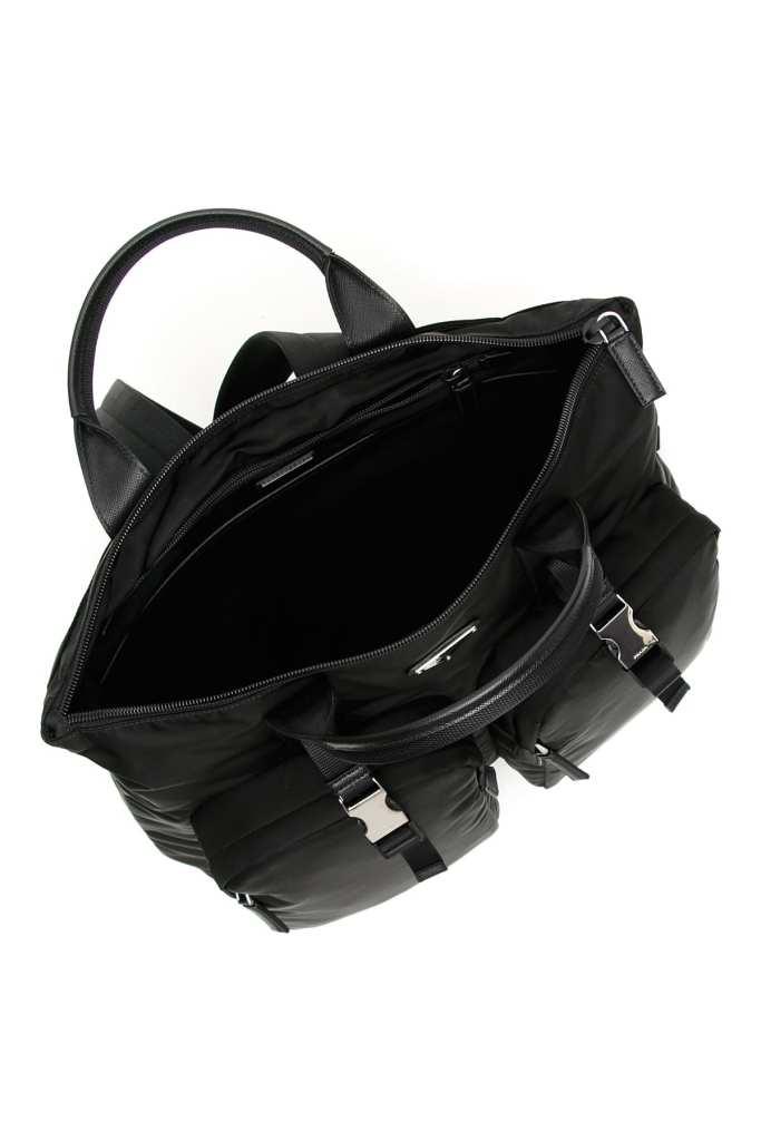 Prada hybrid backpack-tote