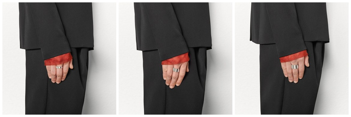 New Bottega Veneta simple silver band rings, by Daniel Lee
