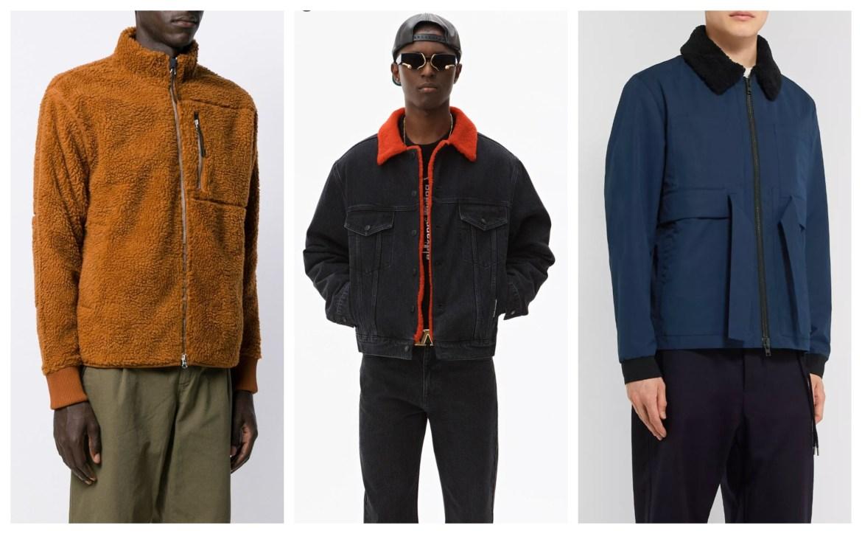 Fall 2019 menswear fleece and shearling jackets: Alex Mill, Alexander Wang, and Craig Green