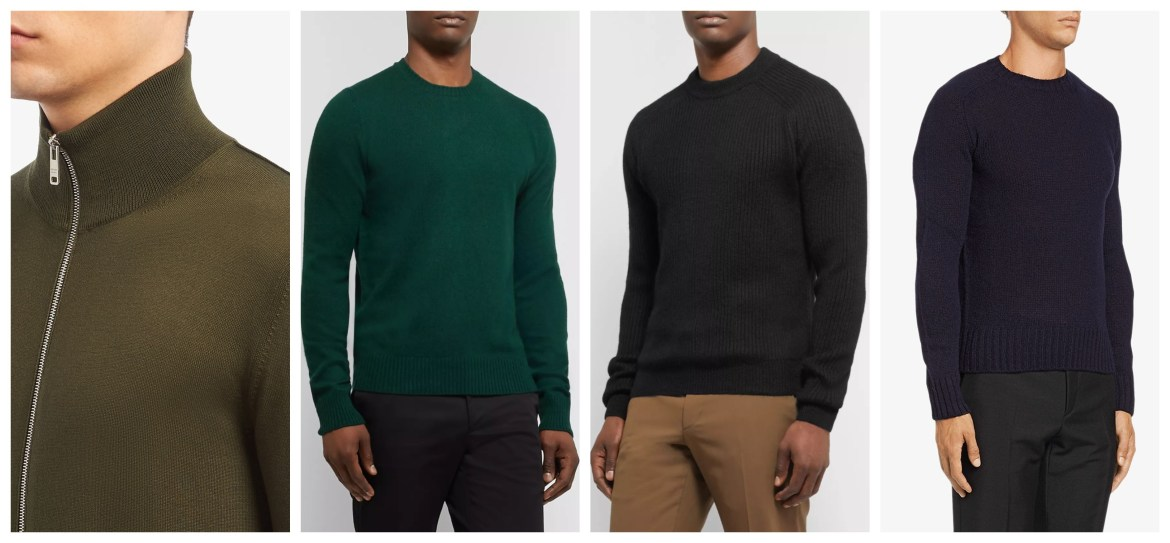 Prada permanent menswear collection assorted knits
