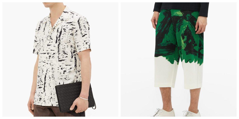 spring summer 2020 menswear abstract prints bottega veneta issey miyake