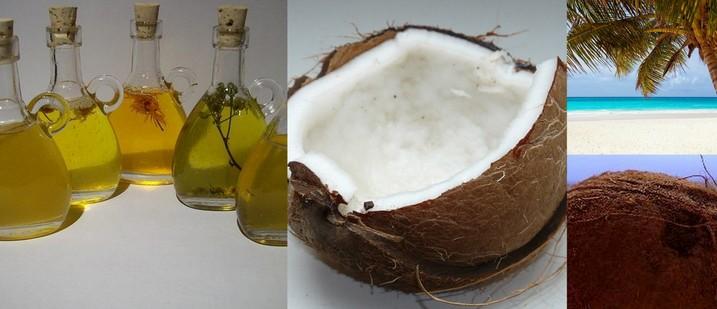 huile cooc pour visage, exfoliant coco, cheveux coco,