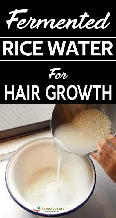 Fermented Rice Water For Beautiful Hair