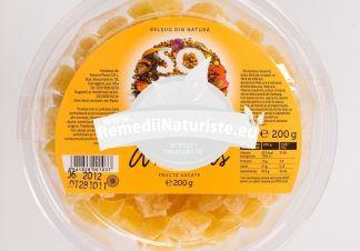 FRUCTE USCATE - ANANAS 200gr SOLARIS Tratament naturist aliment naturist pentru o dieta sanatoasa