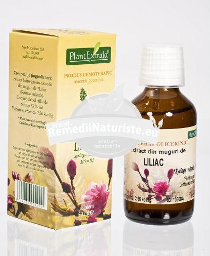 SYRINGA VULGARIS (LILIAC) 50ml PLANTMED Tratament naturist arteritele membrelor inferioare angina pectorala insuficienta coronariana miocard