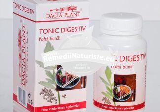 TONIC DIGESTIV 60cps DACIA PLANT Tratament naturist tonic digestiv apetit redus dispepsii indigestie
