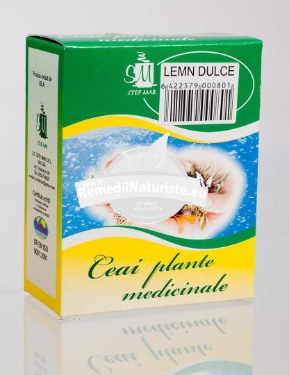 CEAI LEMN DULCE 50gr STEFMAR Tratament naturist gastrita hiperacida ulcer gastric balonari bronsita
