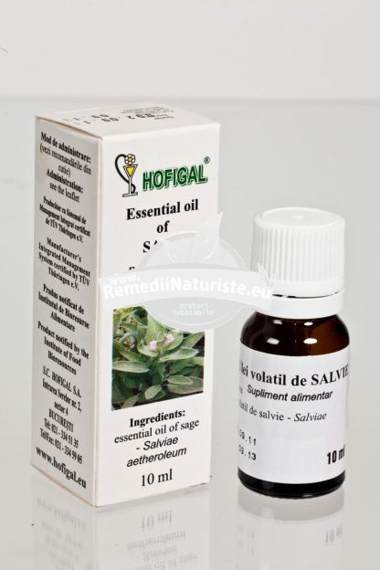 ULEI SALVIE 10ml HOFIGAL Tratament naturist inflamatii intestinale gingivita afte contuzii