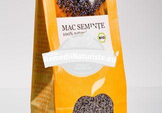 CONDIMENT-MAC SEMINTE 150g LONGEVITA Tratament naturist aliment naturist pentru o dieta sanatoasa bronsita astm bronsic laringita