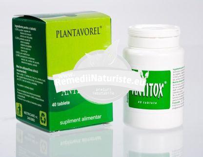 ANTITOX 40 tb PLANTAVOREL Tratament naturist protejeaza organismul impotriva bolilor detoxifiant regleaza secretia de sebum hepatoprotector