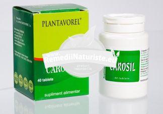 CAROSIL 40tb PLANTAVOREL Tratament naturist afectiuni hepatice toxiinfectii alimentare detoxifiere refacerea celulei hepatice