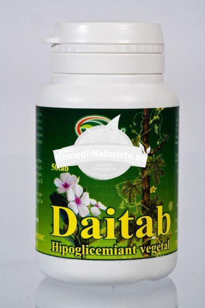 DAITAB 50tb STAR INTERNATIONAL Tratament naturist hipoglicemiant diabet zaharat de tip 2 prevenirea complicatiilor diabetului tulburari cardiovasculare