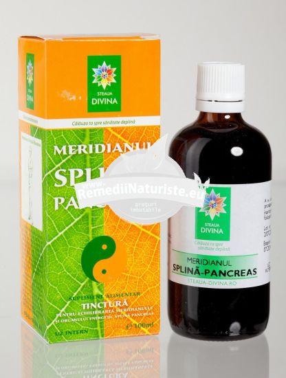 TINCTURA MERIDIAN SPLINA/PANCREAS 100ml SANTO RAPHAEL Tratament naturist diabet zaharat gastroduodenita meterism abdominal balonari