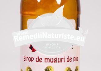 SIROP MUGURI PIN 500ml PLAFAR Tratament naturist expectorant dezinfectant al cailor respiratorii emolient antiinflamator