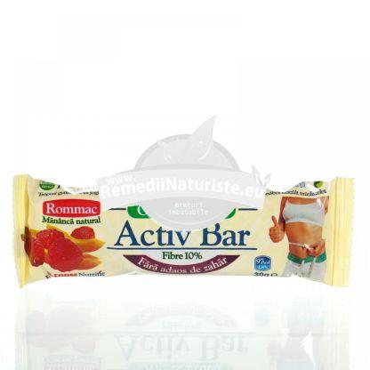 BATON OVAZ IAURT+FRUCTE TROPICALE 30gr ROMMAC Tratament naturist aliment naturist pentru o dieta sanatoasa gustare prebiotic dieta nutritionala
