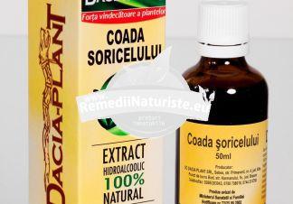 TINCTURA COADA SORICELULUI 50ml DACIA PLANT Tratament naturist dereglari hormonale inflamatii grnitale hemoragii intestinale boli inflamatorii ale intestinului