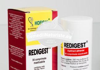 REDIGEST 30tb (masticabile) HOFIGAL Tratament naturist hepatita ulcer gastrita duodenita