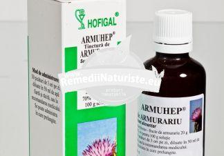 TINCTURA ARMURARIU 50ml HOFIGAL Tratament naturist hepatite ciroze stari inflamatorii ale ficatului hipotensiune