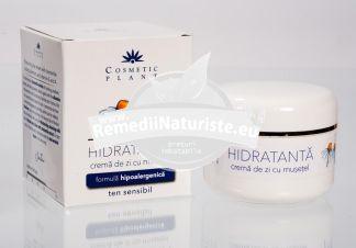 CREMA HIDRATANTA ZI CU MUSETEL 50ml COSMETIC PLANT Tratament naturist hidrateaza reimprospateaza