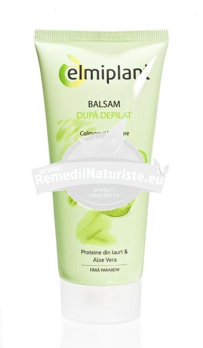 BALSAM DUPA DEPILAT 100ml ELMIPLANT Tratament naturist hidrateaza pielea dupa epilat hidrateaza si protejeaza pielea iritatii stimuleaza regenerarea celulara