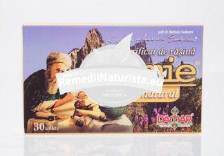 EXTRACT PURIFICAT DE RASINA MUMIE 30tb DAMAR Tratament naturist supliment alimentar biologic activ imunostimulator detoxifiere tonic si energizant