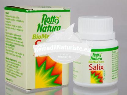 SALIX (ASPIRINA VEGETALA) 30cps ROTTA NATURA Tratament naturist infectii ale cailor respiratorii insomnii nevralgii inima