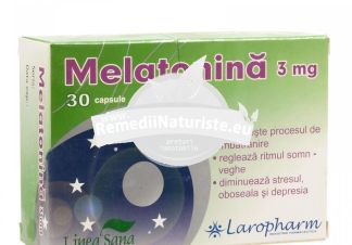 MELATONINA 3mg 30cps LAROPHARM Tratament naturist stres oboseala depresie incetineste procesul de imbatrinire