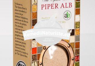 CONDIMENT-PIPER ALB MACINAT 50g LONGEVITA Tratament naturist aliment ecologic pentru o dieta sanatoasa legume sosuri salate