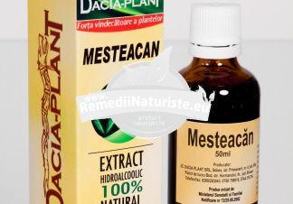 TINCTURA MESTEACAN 50ML DACIA PLANT Tratament naturist edeme de origine cardiaca si renala litiaza renala si urinara pielita pielonefrita