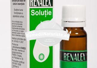 RENALEX 10ml FARES Tratament naturist litiaza ureterala litiaza renala boli reno-urinare favorizeaza eliminarea calculilor