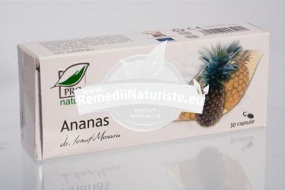 ANANAS 30cps/blister MEDICA Tratament naturist obezitate celulita picioare umflate digestie