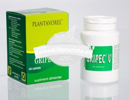 GRIPEC V 40tb PLANTAVOREL Tratament naturist bronsite tuse antigripal previne gripa