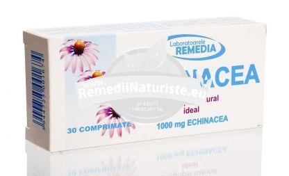 ECHINACEA 30cpr REMEDIA Tratament naturist antigripal natural raceala gripa infectii si inflamatii manifestate prin febra