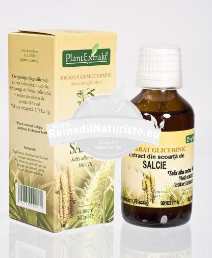 SALIX ALBA (SCOARTA SALCIE) 50ml PLANTMED Tratament naturist reumatism articular nevralgie reumatica poliartrita reumatoida artroza