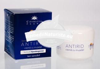 CREMA ANTIRID MUSETEL 50gr COSMETIC PLANT Tratament naturist antirid hidratanta efect de intinerire riduri
