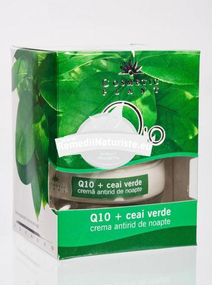 CREMA ANTIRID NOAPTE Q10 SI CEAI VERDE 50ml COSMETIC PLANT Tratament naturist antirid hidratanta efect de intinerire riduri