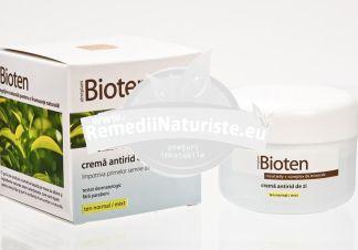 CREMA BIOTEN ANTIRID ZI TNM 50ml ELMIPLANT Tratament naturist efect de intinerire riduri previne imbatanirea prematura a pielii