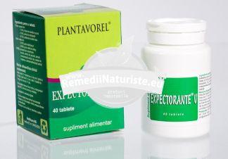EXPECTORANTE V 40tb PLANTAVOREL Tratament naturist afectiuni acute sau cronice ale aparatului respirator tract respirator superior fluidificarea expectoratiei raceala