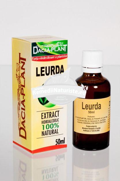 TINCTURA LEURDA 50ml DACIA PLANT Tratament naturist hipertensiune eliminatea toxinelor paraziti tromboflebita