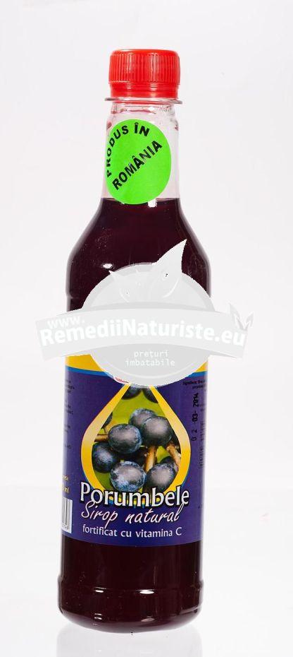 SIROP NATURAL PORUMBELE 500ml (620g) ADVENTURE IMPORT-EXPORT Tratament naturist uz alimentar saruri de calciu si magneziu vitamina c