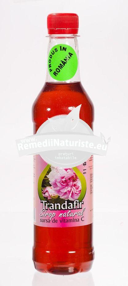 SIROP NATURAL TRANDAFIR 500ml (620g) ADVENTURE IMPORT-EXPORT Tratament naturist uz alimentar