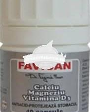 FAVIMIN (CA,MG,ZN SI FOSFOR) 40cps FAVISAN Tratament naturist tetanie spasmofilie osteoporoza hipercolesterolmie
