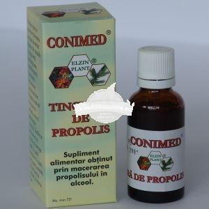 TINCTURA PROPOLIS 30ml ELZIN PLANT Tratament naturist cicatrizant antiacneic antioxidant rezistenta fizica